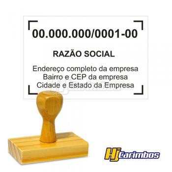 Carimbo de madeira 40x70mm - CNPJ, Médicos e Empresas