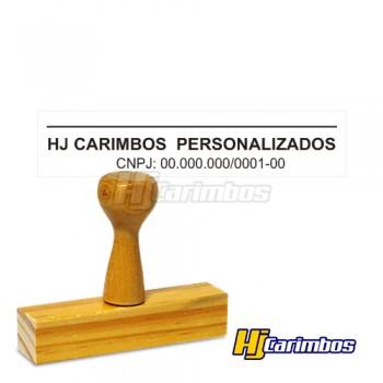 Carimbo para Assinatura em madeira 20x60mm