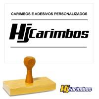 Carimbo Retangular de madeira 100x50mm para Logomarcas