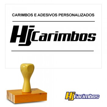 Carimbo Retangular 40x70mm de madeira - Logomarcas